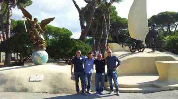 il Piazzale con il nuovo monumento