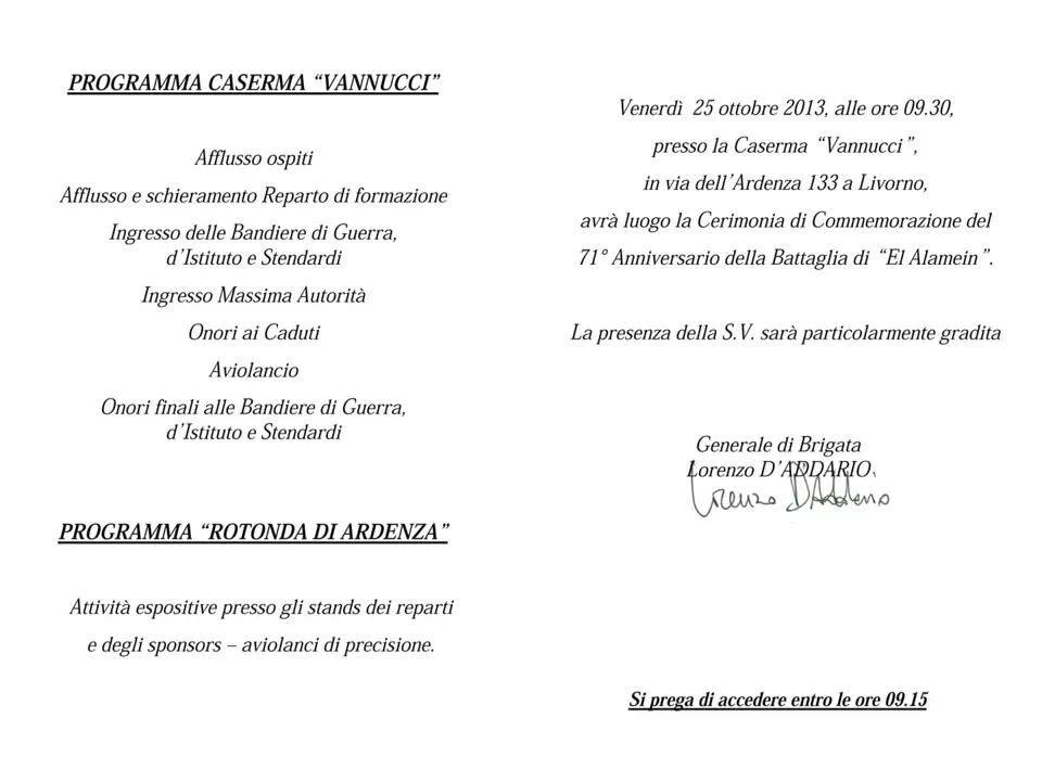 Programma Caserma Vannucci