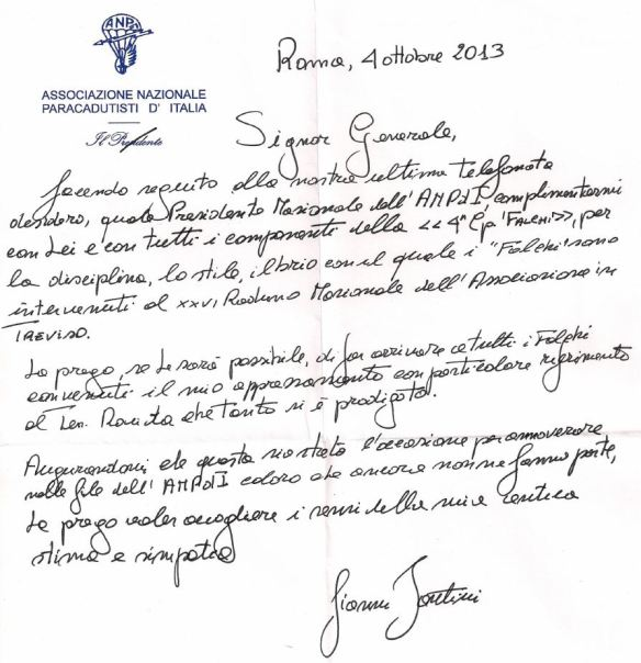 lettera generale fantini